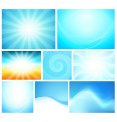 set abstract background blue color - shiny vector image