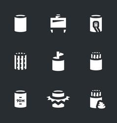 Set bridge pile installation icons vector
