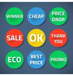Set of bussiness sale promotion signs vector