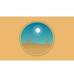 Silhouette of cactus icon vector