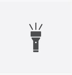 simple flashlight icon vector image