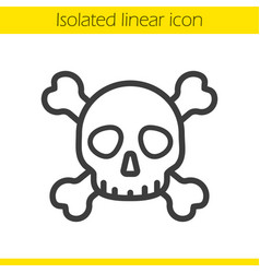 skull with crossbones linear icon vector image