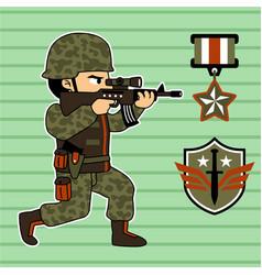 Special forces cartoon vector