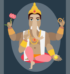 Statue lord ganesh vector
