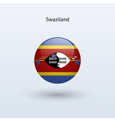 Swaziland round flag vector image
