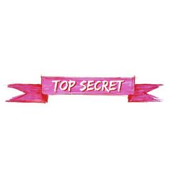 Top secret ribbon vector