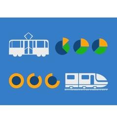 Transportation Infographic Elements vector image