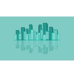 Urban reflection design flat vector