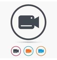 Video camera icon Film recording cam symbol vector