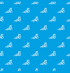 Xray of foot pattern seamless blue vector