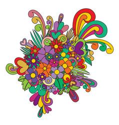 Zentangle abstract flower floral zen tangle vector