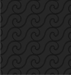 Black 3d horizontal spiral thin waves vector image vector image