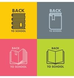 Book icon set for school vector image