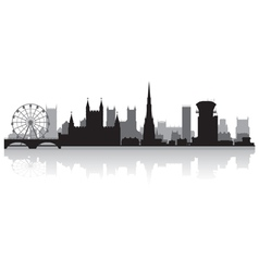 Bristol city skyline silhouette vector image vector image