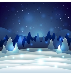 Christmas winter scenery with snowy nature vector image