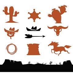 Cowboys set vector image vector image