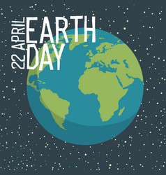 earth day poster design in flat style planet in vector image vector image