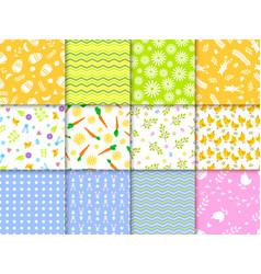 easter seamless pattern background design vector image vector image