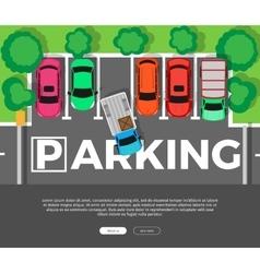 Parking Conceptual Web Banner Car Park vector image vector image