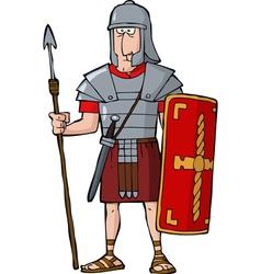 roman legionary vector image vector image
