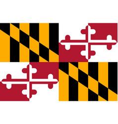 flag of maryland usa vector image vector image