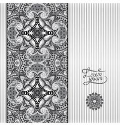 grey geometric background vintage ornamental vector image