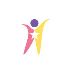 people star logo vector image