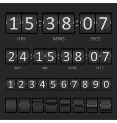 Scoreboard Countdown Timer vector image