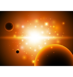 Space background with stars vector image vector image