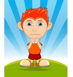 The boy crying cartoon vector image