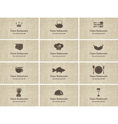 Business card food vector image vector image