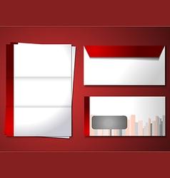 Corporate identity theme vector image vector image