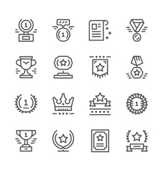 Set line icons of award vector image vector image