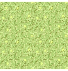 abstract flowers floral light green seamless vector image