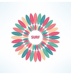 bright and colorful surfing background made vector image