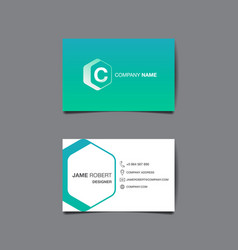 business name card background vector image