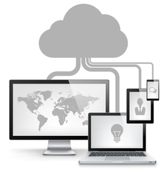 Cloud Service Concept vector image vector image