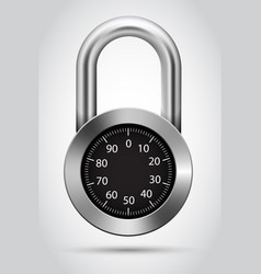 combination padlock vector image