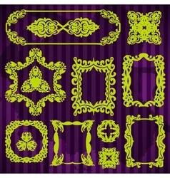 decorative doodle vintage borders set vector image vector image
