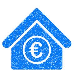 Euro financial center grunge icon vector