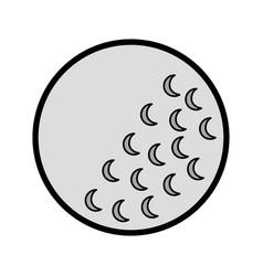 golf ball sport equipment play icon vector image