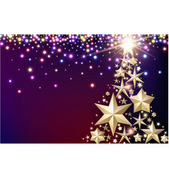 purple background with christmas tree vector image vector image