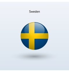 Sweden round flag vector image