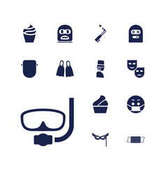 13 mask icons vector