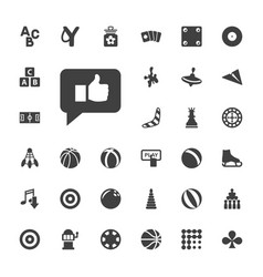 33 game icons vector