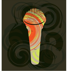 Abstract microphone vector image