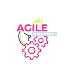 Agile software development icon design vector