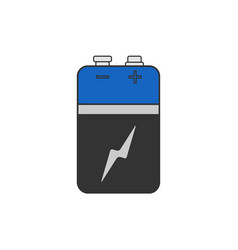 Alkaline battery in cartoon flat for any design vector