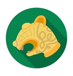 Animal head of viking s ship icon in flat style vector image