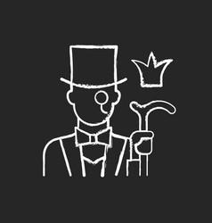 aristocratic elite chalk white icon on black vector image